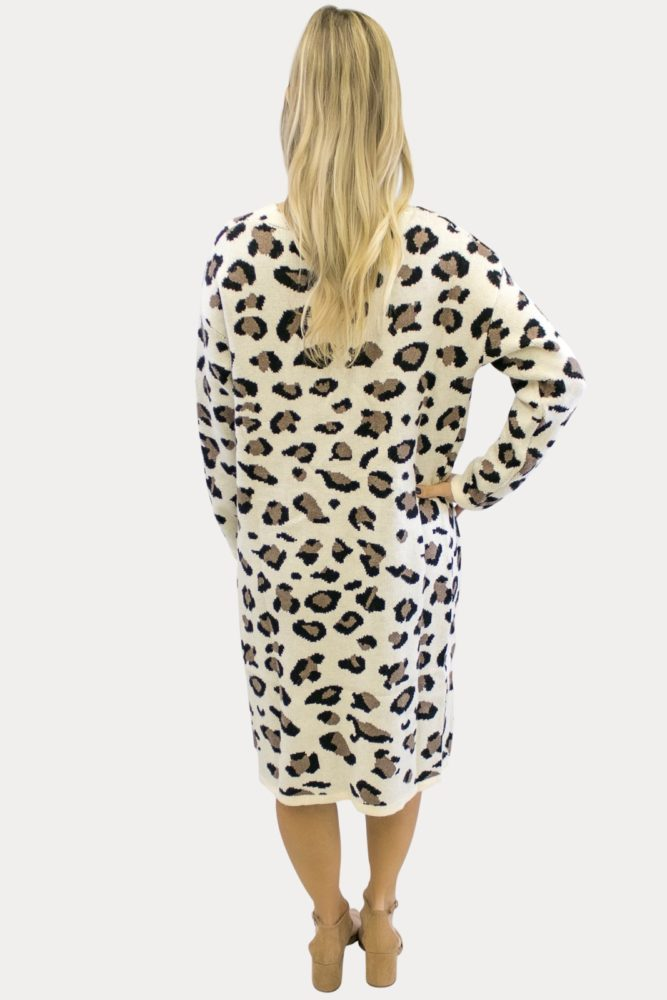 Cream Leopard Maternity Sweater