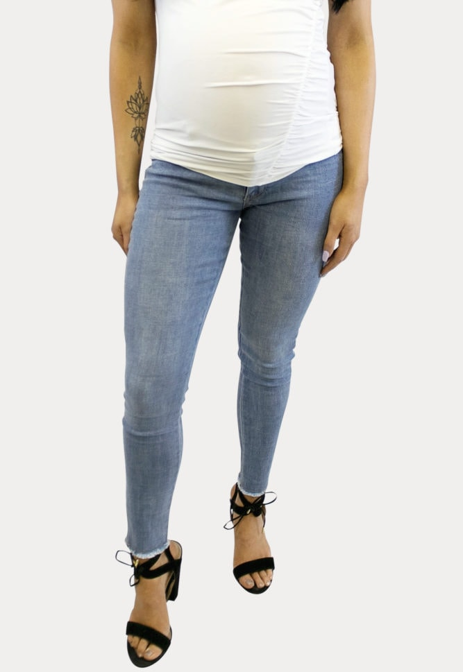 Light Wash Maternity Jeans