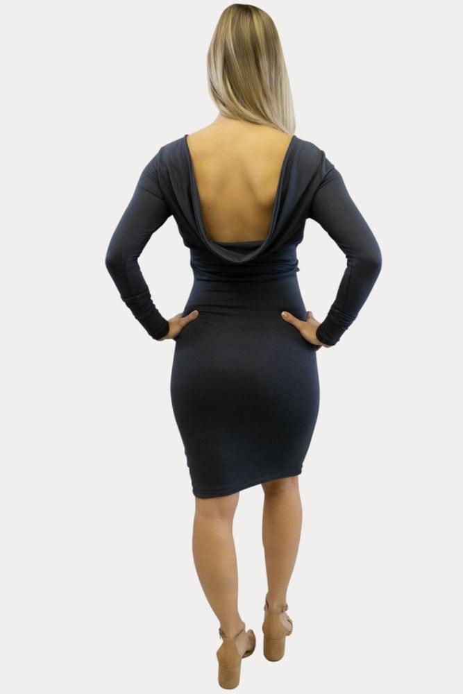Cowl Back Maternity Dress