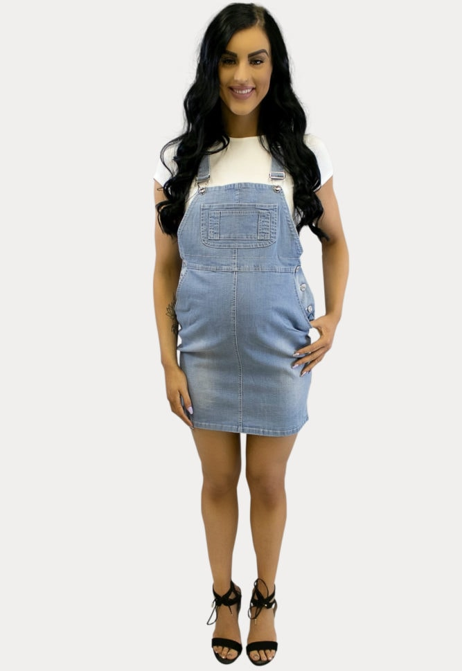 maternity overall dress