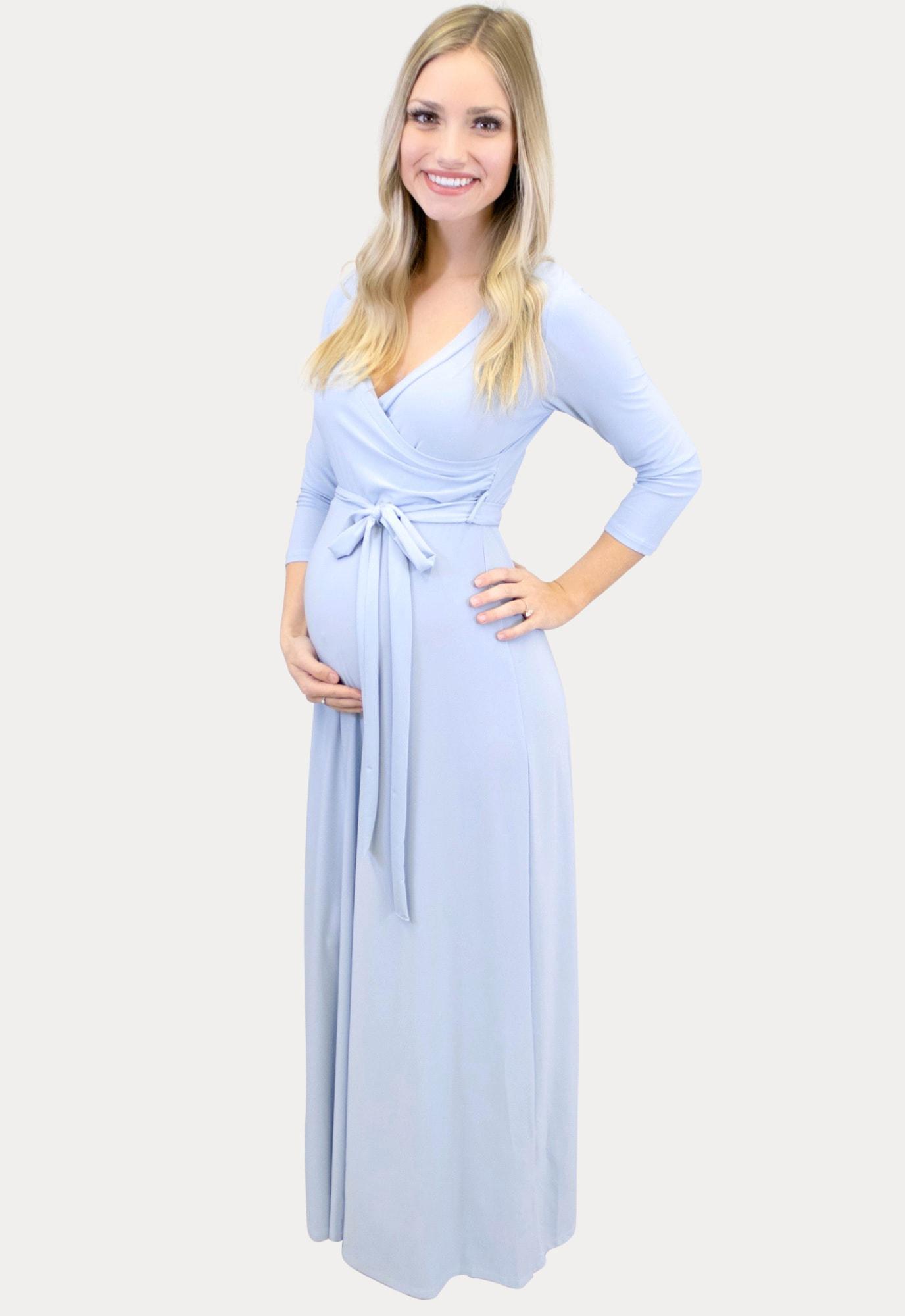 Sweetheart Maxi Maternity Dress Sexy Mama Maternity