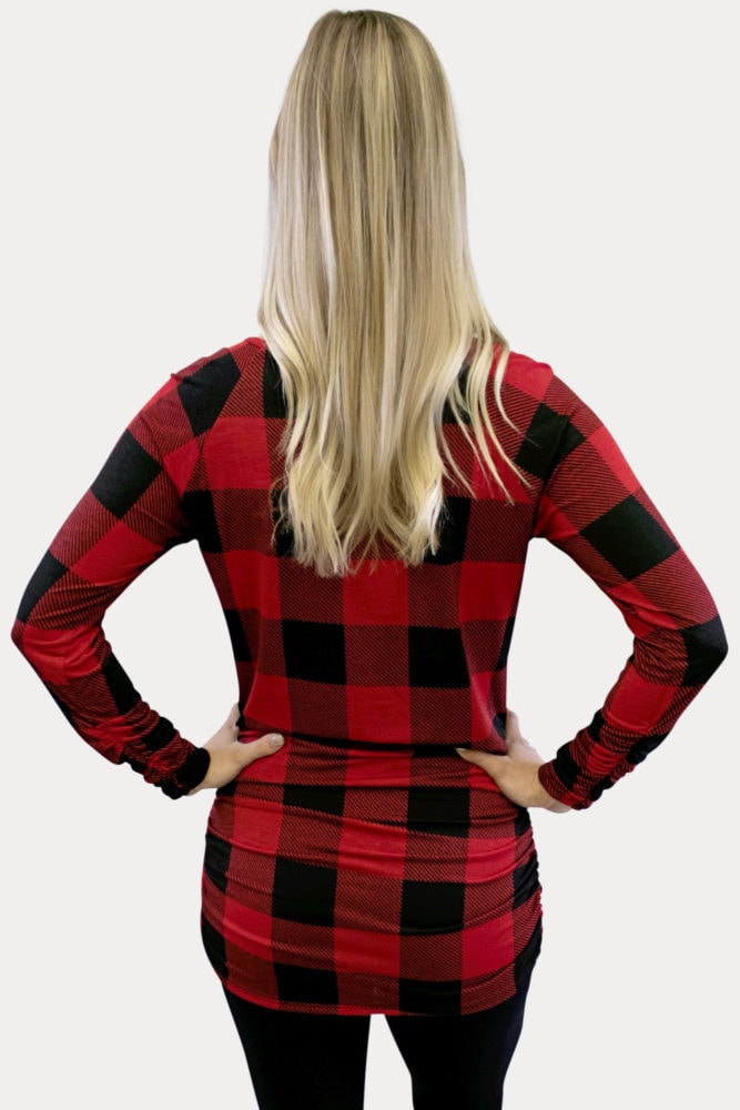 Buffalo Plaid Maternity Top