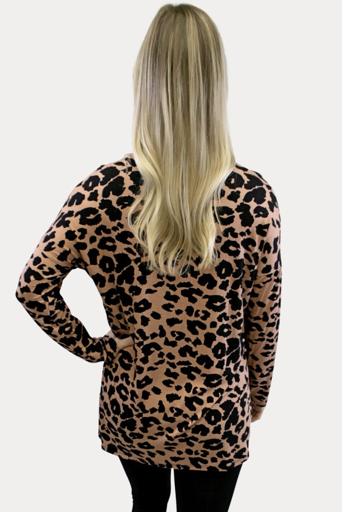 Leopard Print Maternity Top