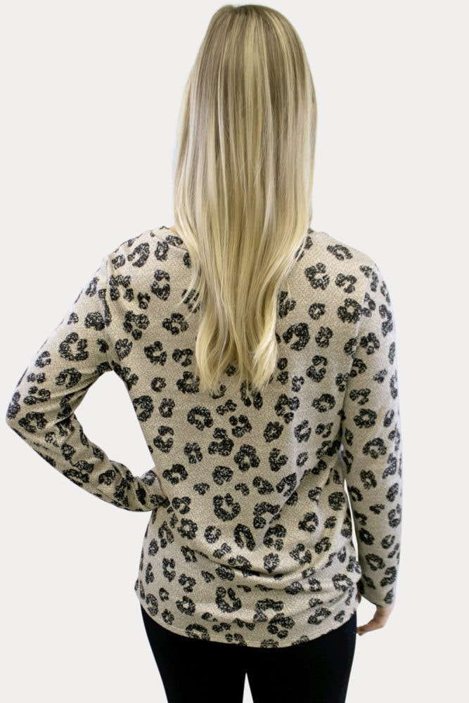 Leopard Print Pregnancy Top