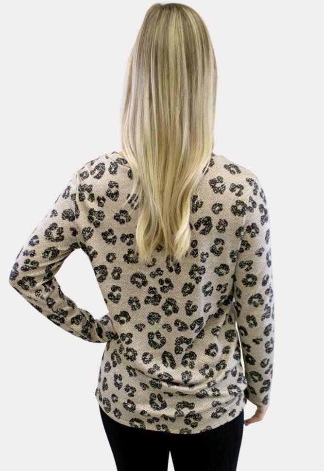 Leopard Print Pregnancy Top