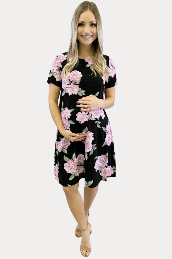 floral print maternity dress