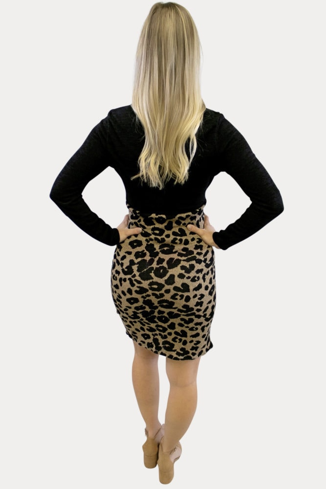 leopard ruched maternity dress