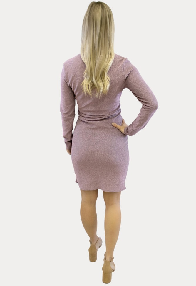 sparkly ruched maternity dress