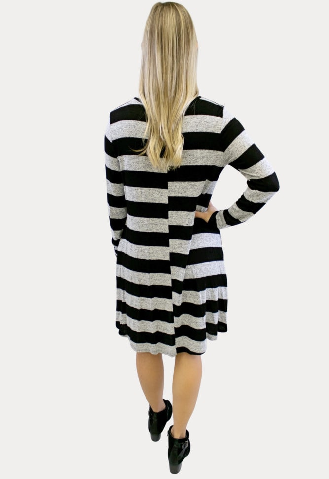 relaxed striped maternity dress