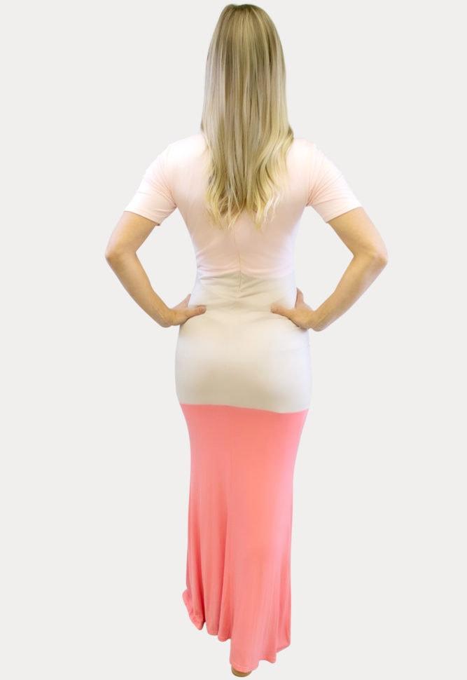 Pink Maxi Maternity Dress
