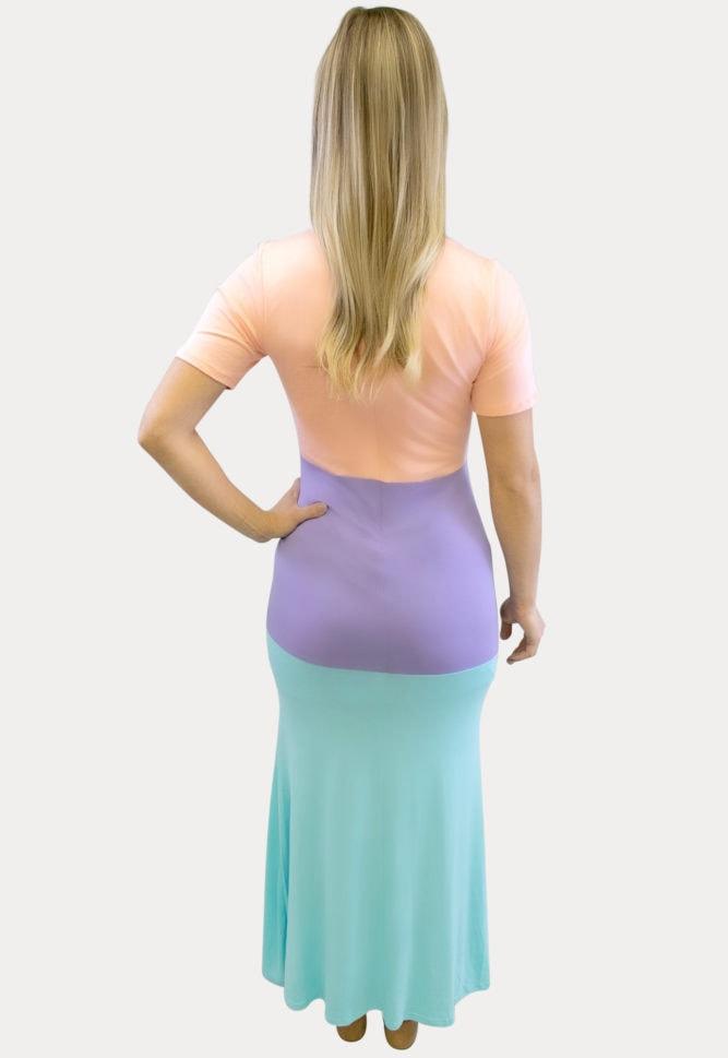 tricolor maxi maternity dress
