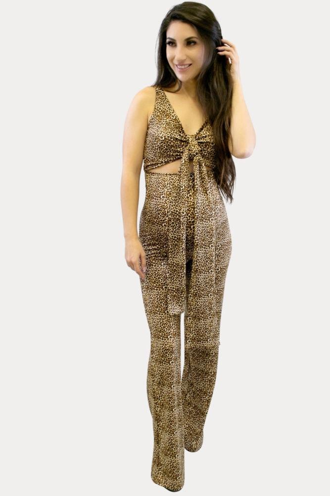 leopard maternity jumpsuit