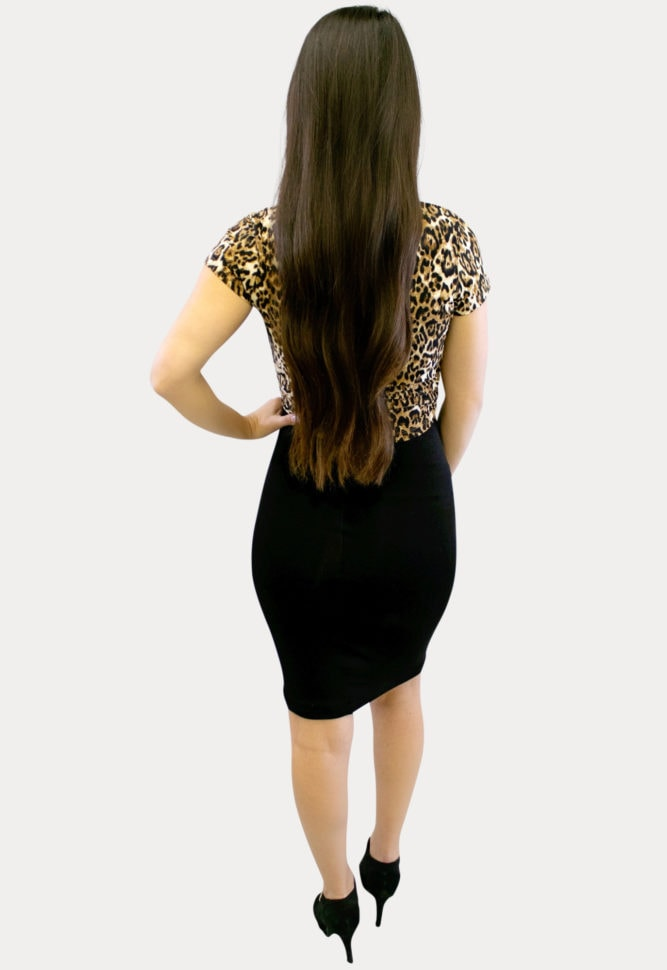 leopard print maternity outfit