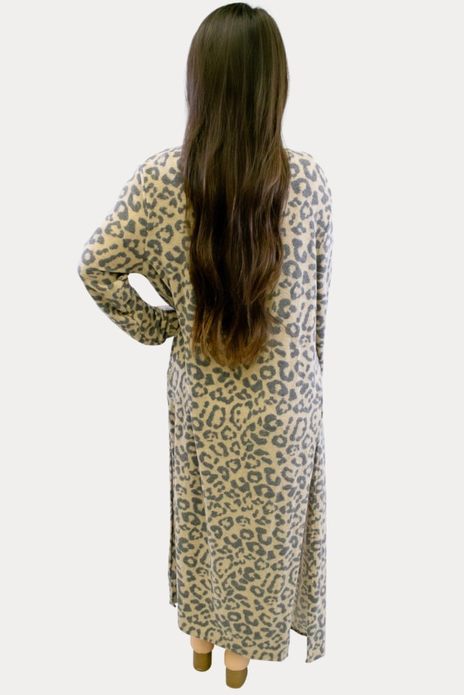 Leopard Print Maternity Duster