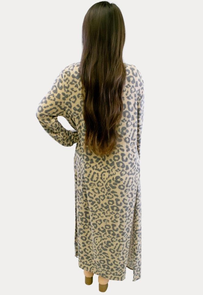 Leopard Print Maternity Duster