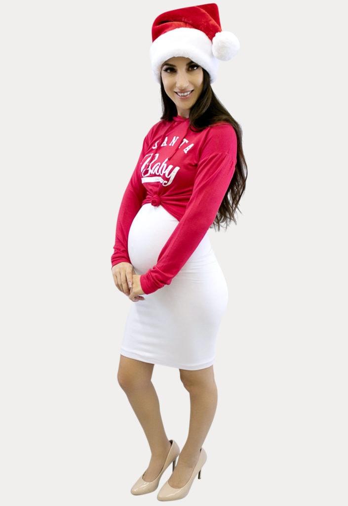 santa baby maternity outfit
