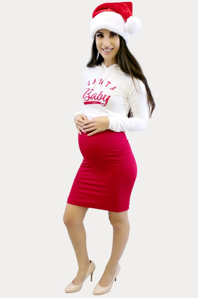 santa baby pregnancy outfit