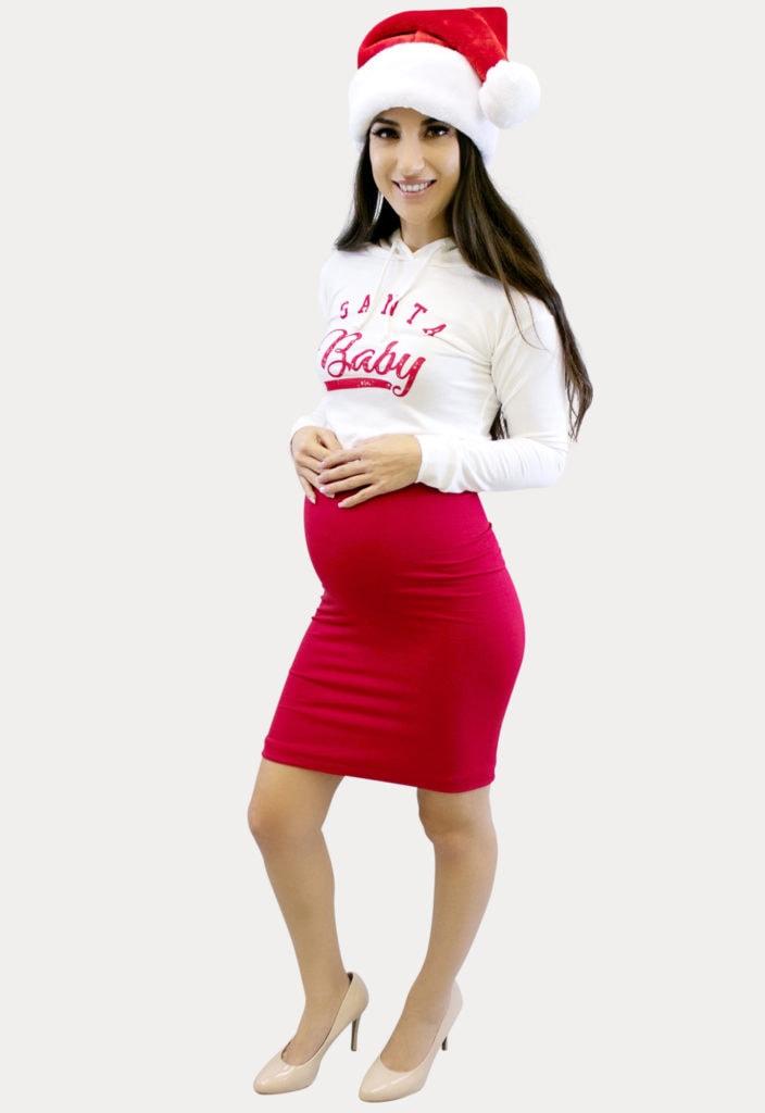santa baby pregnancy outfit
