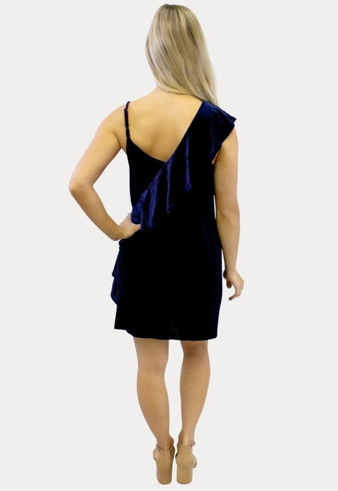 velvet ruffle pregnancy dress