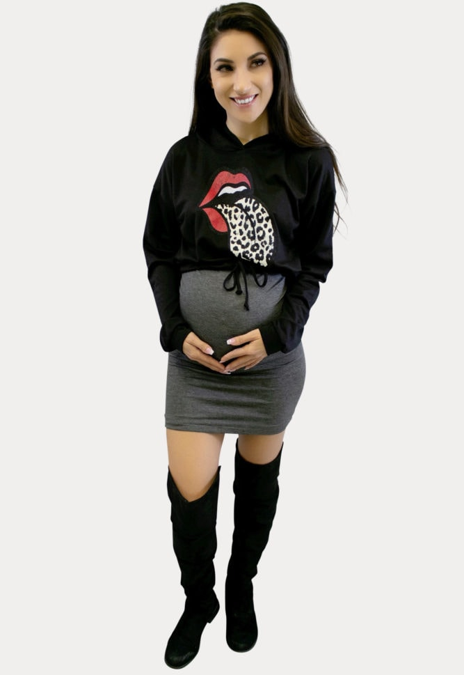 rocker baby pregnancy outfit
