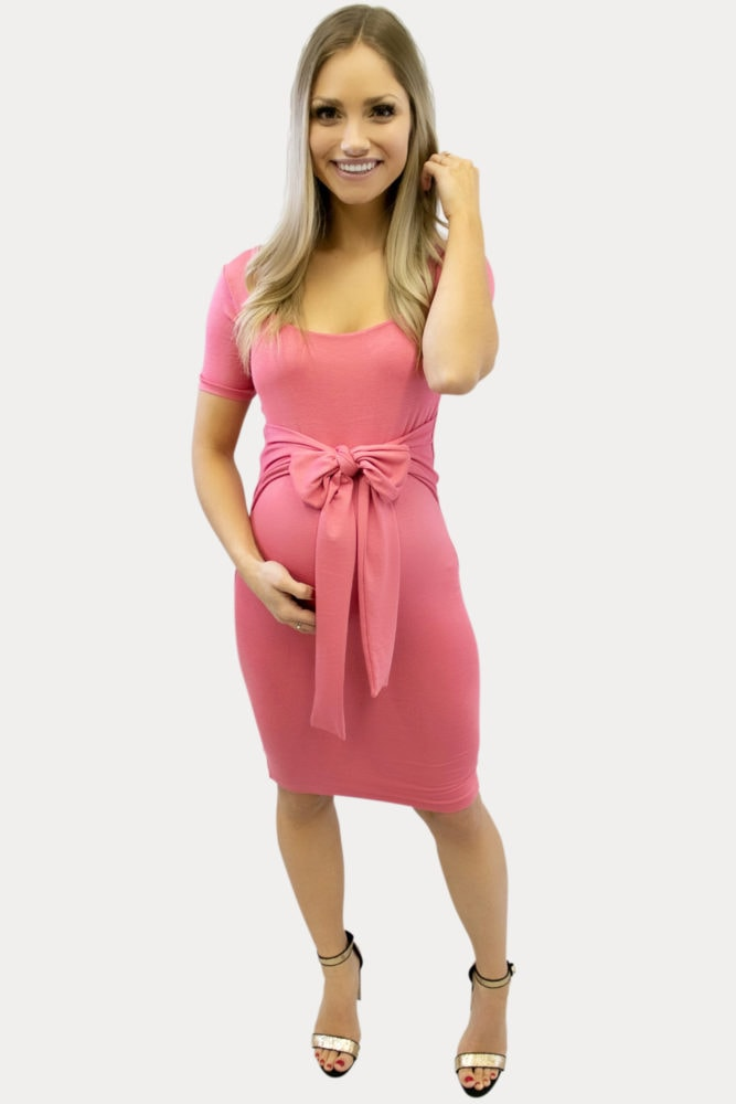 tie front pregnancy dress