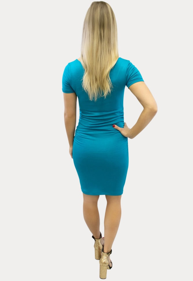 ruched maternity bodycon