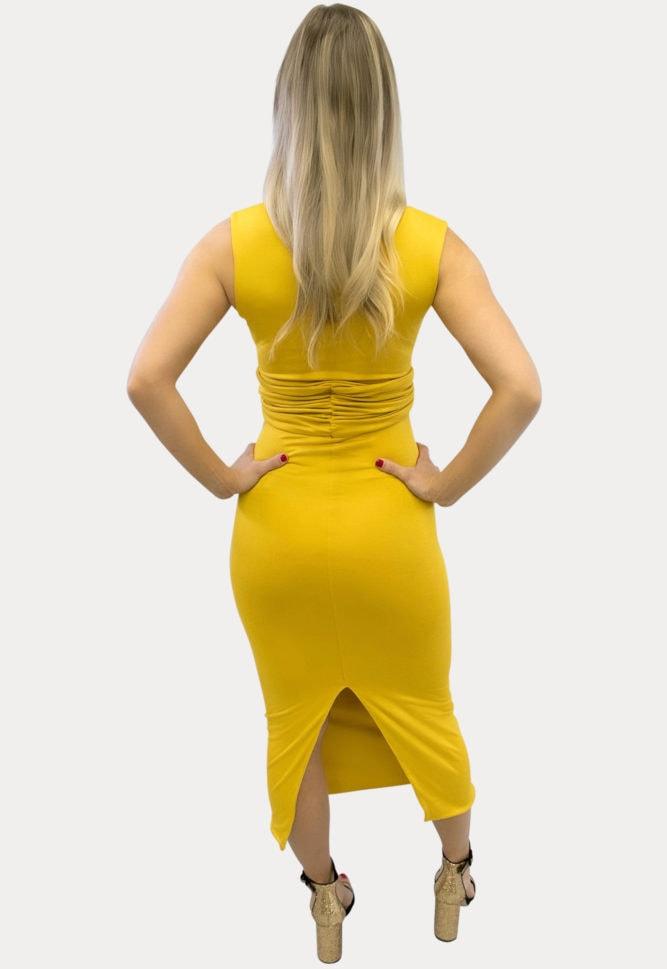 sleeveless cross bust maternity dress