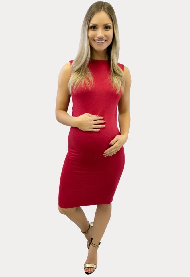Open Back Maternity Dress