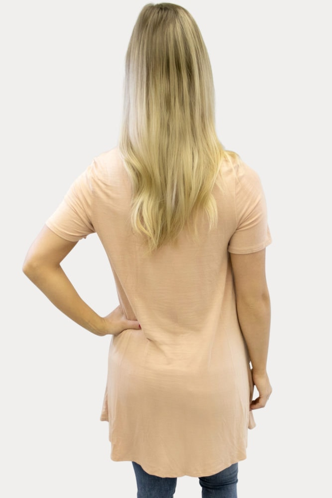 ruffle maternity tunic