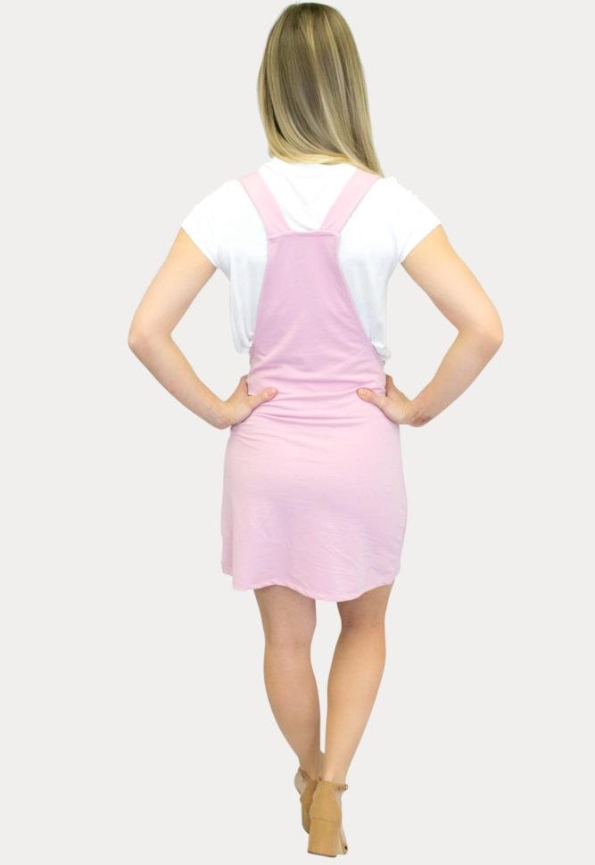 mini overall maternity dress