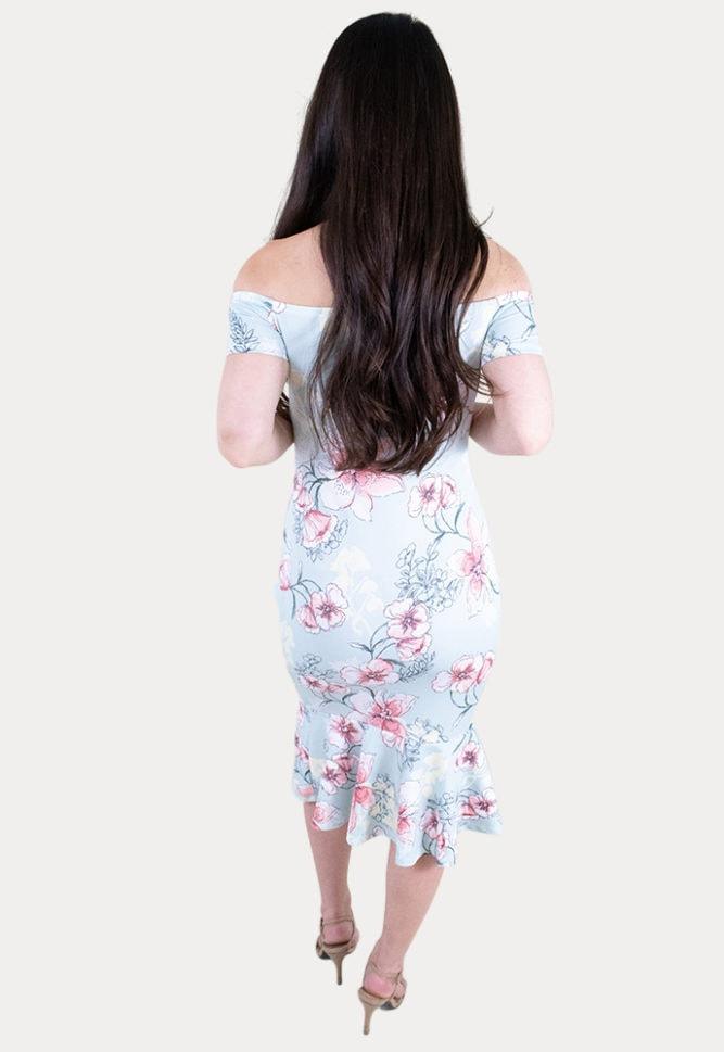 floral maternity midi dress