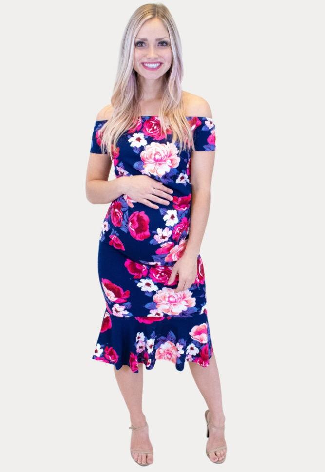 gender reveal maternity dress