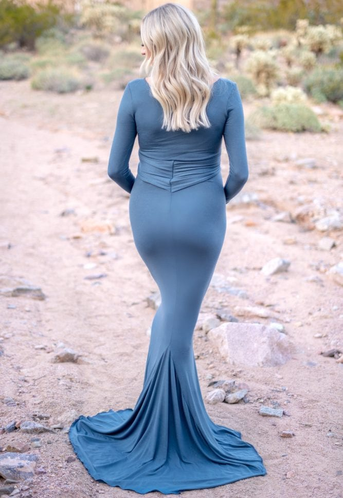 pregnancy gown with bow