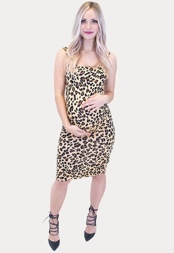 leopard maternity dress