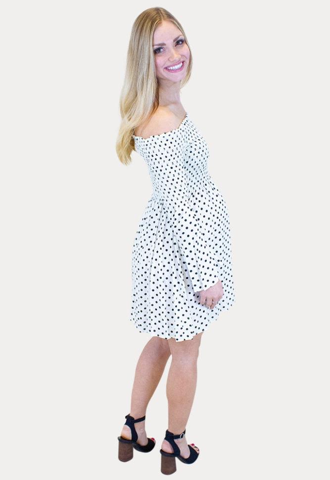 polka dot pregnancy dress