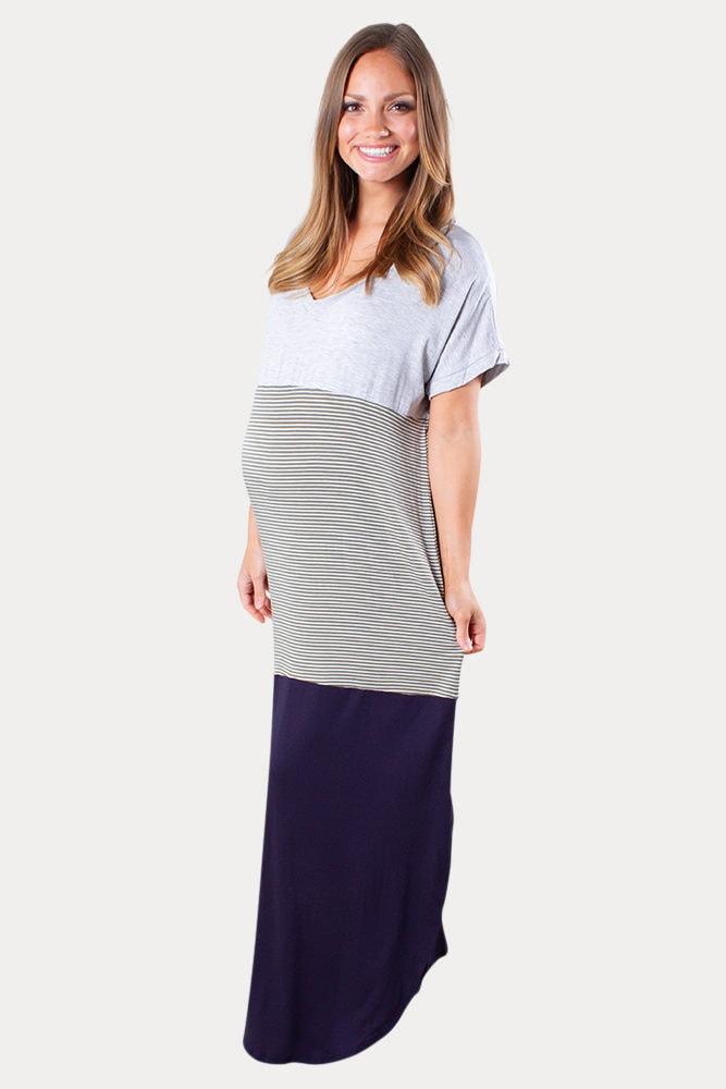 loose maternity maxi dress