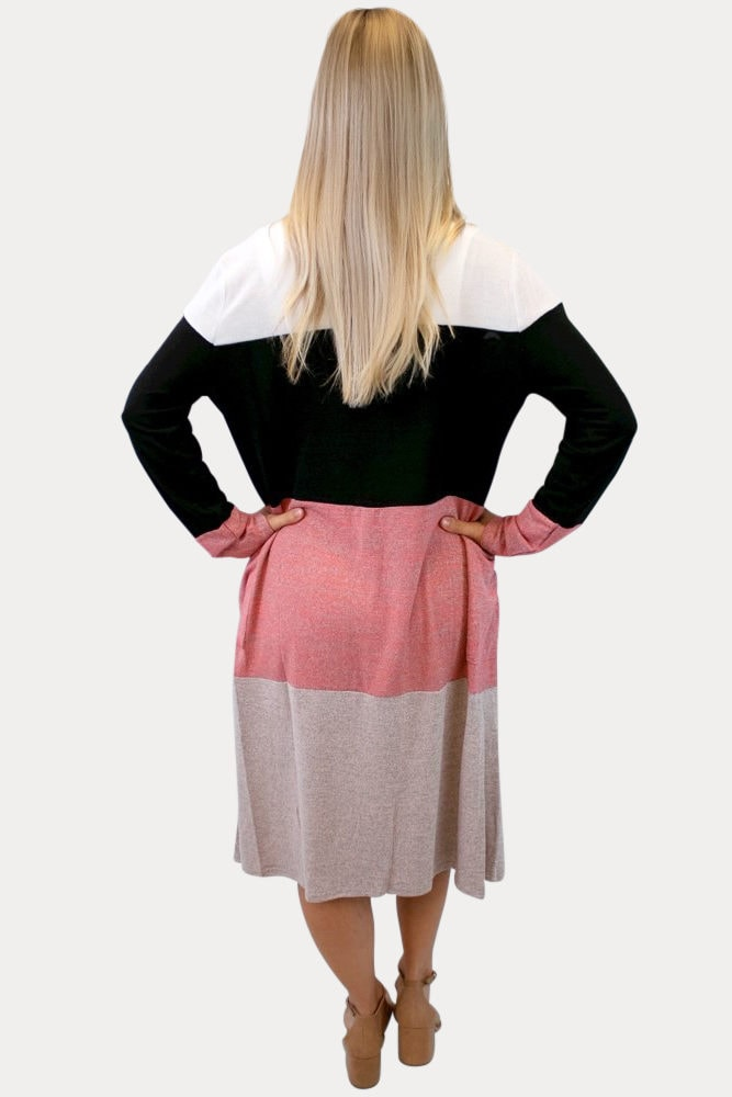 Color Block Maternity Cardigan
