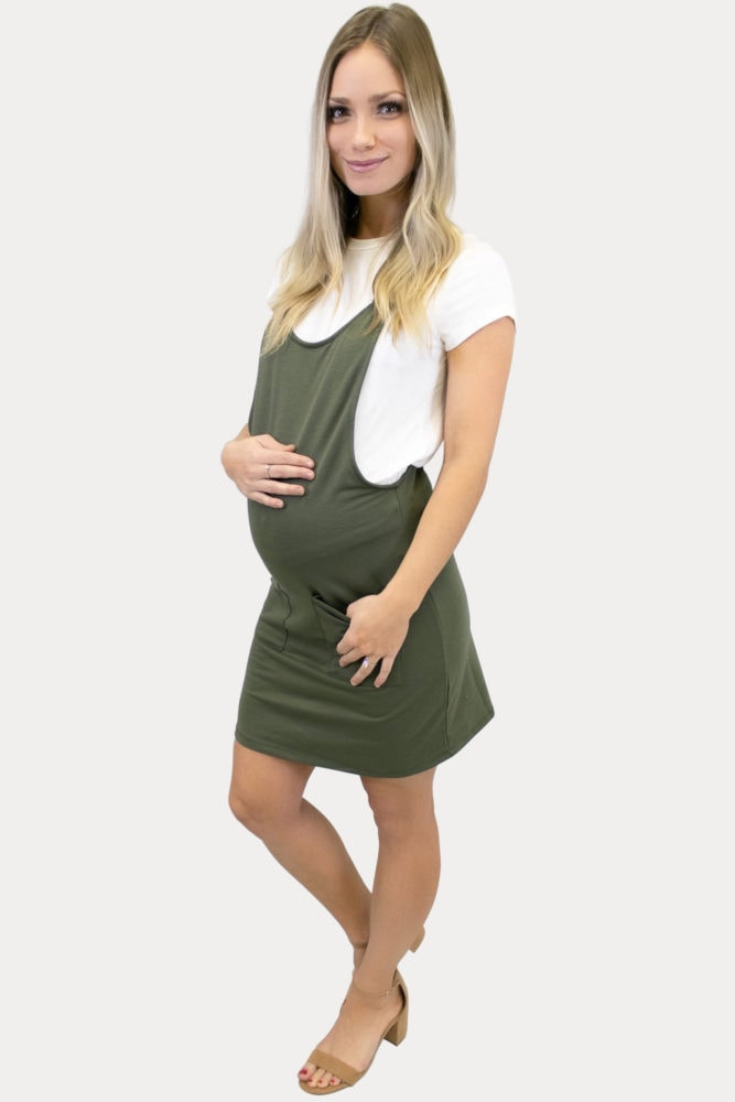 overall maternity dress