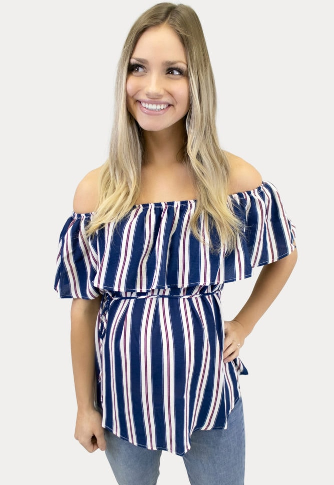 striped maternity top