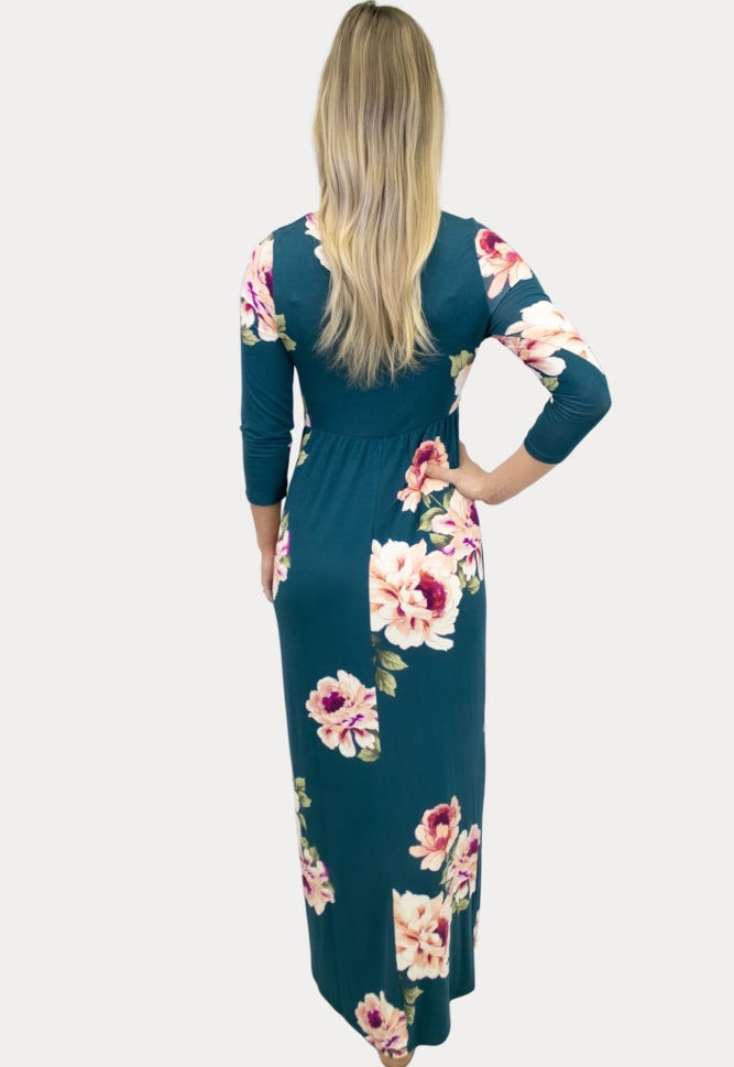 floral sweetheart maternity maxi