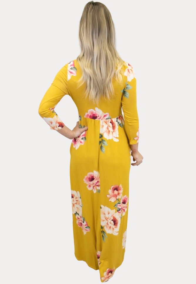 sweetheart floral maternity maxi