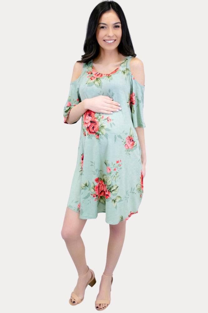floral flowy maternity dress
