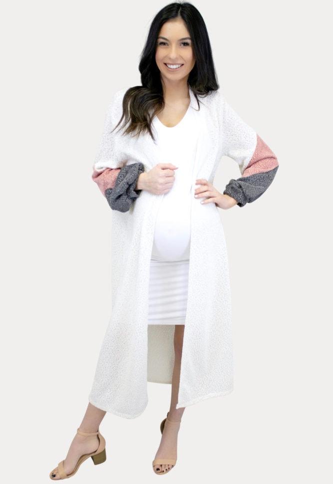 Color Block Maternity Sweater