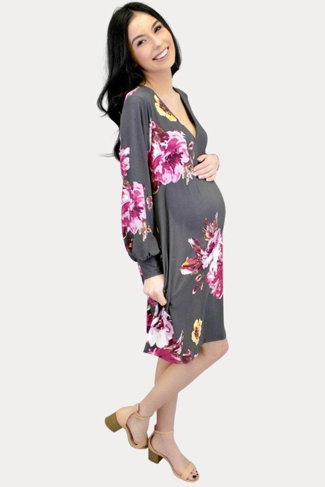 maternity bishop sleeves