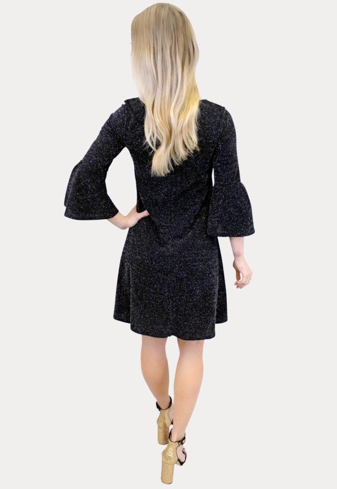 black sparkly maternity dress