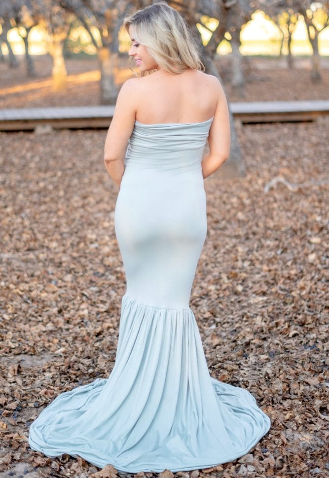 sweetheart mermaid maternity gown
