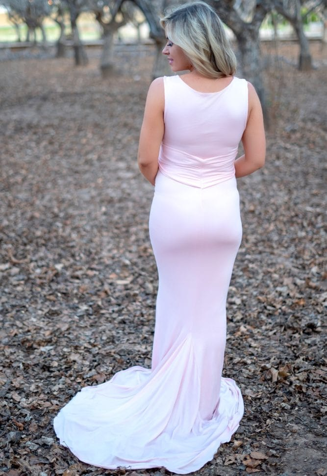 tie front maternity gown