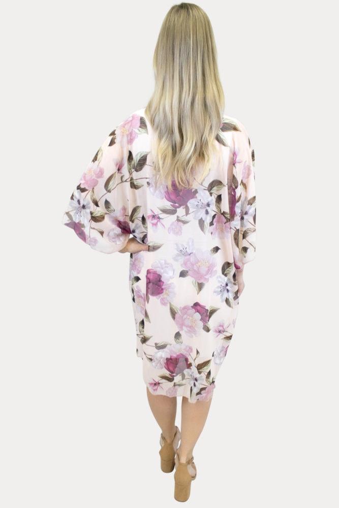 Blush Pink Floral Kimono