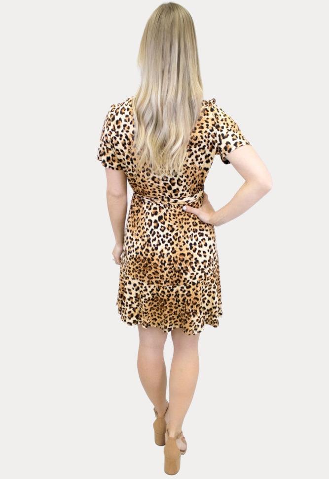 tie front leopard maternity dress