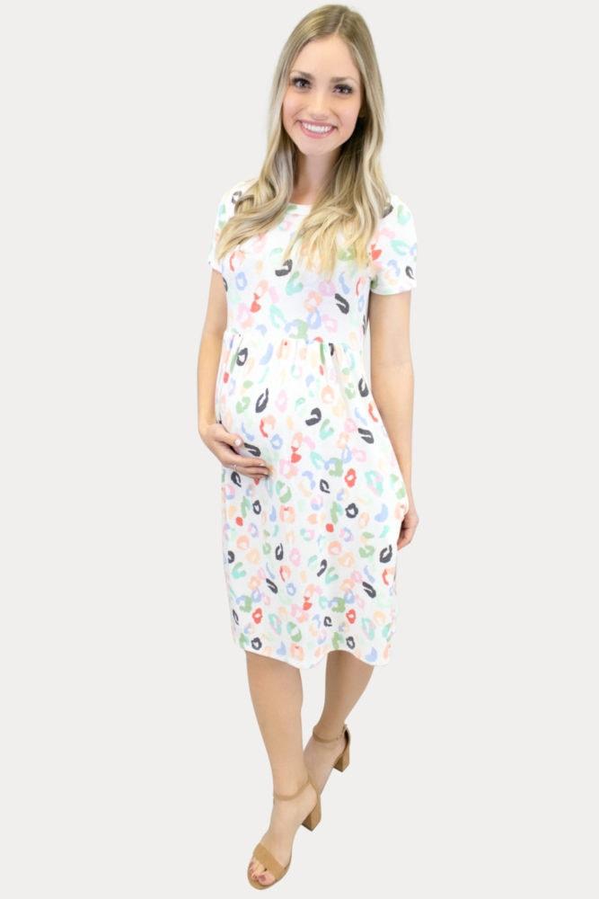 party print maternity dress